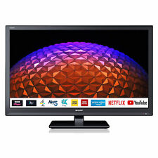"""Sharp 1T-C24BC0KR1FB 24"""" Inch HD Ready LED Smart TV with Freeview Play - Black"""