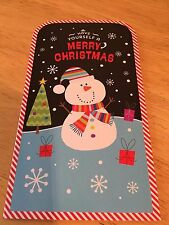 MERRY CHRISTMAS SNOWMAN MONEY GIFT WALLET / CHRISTMAS GREETING CARD
