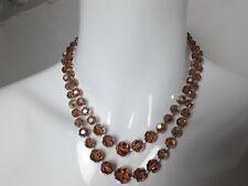 BIJOU 26 Collier perles verre irisé à facettes VINTAGE 60 glass beads NECKLACE
