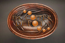 COPPER OVAL DROP-IN HAMMERED BATHROOM SINK BRAID DESIGN
