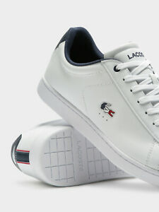 Lacoste mens Carnnaby Evo 119 white PREMIUM leather Trainers
