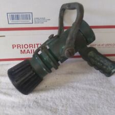 VINTAGE PISTOL GRIP BRASS FIRE NOZZLE WORKING CONDITION F&H DK ONLY 1.5 NP 3H VG