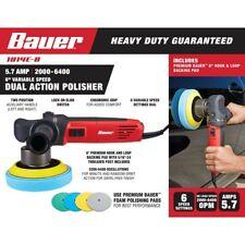 "Bauer Car Buffer 6"" Dual Action Variable Speed Da Polisher Orbital Sander Waxing"