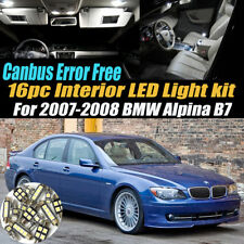 16Pc 2007-2008 Alpina B7 CANbus Error Free Car Interior LED White Light Bulb Kit