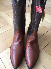 Nouvelle Tony Lama Cowboy Western Bottes boots cuir orange/marron US 12.5d EUR 46