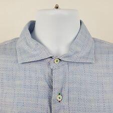 Alexander Julian Private Reserve Blue Geometric L/S Dress Button Shirt Sz 17.5