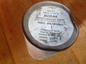 Vintage SEALED 200'Kodak Photographic Paper AERO ENLARGING 1 WWII EXPIRED AS IS