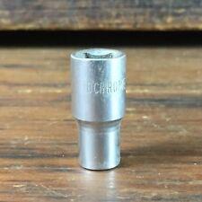 "VINTAGE SIDCHROME 1828-6 6mm 1/4""dr METRIC SOCKET MADE IN AUSTRALIA"