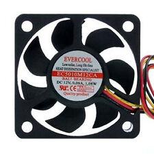 Evercool EC5010M12CA 50mm x 50mm x 10mm 12v Ball Bearing Cooling CPU Fan 3 pin