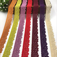 2Yards Elastic Band Flower Lace Trim Ribbon Clothing Underwear Dress Sewing DIY