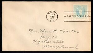 1937 US #796 Virginia Dare Commemorative on Addressed First Day Cover