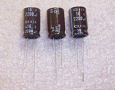 QTY (20) 2200uf 16V 105' LOW IMPEDANCE RADIAL ELECTROLYTIC EKZH160ELL222MK ROHS