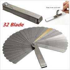 32 Blade Feeler Gauge Dual Reading Combination Measuring For Metric Set Up Tool