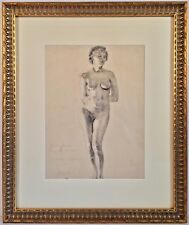Listed Artist Terry Paul Bresnahan (b.1908) Exhibited Nude Pencil Drawing 1934