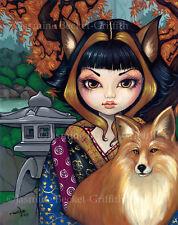 Jasmine Becket-Griffith art print SIGNED Kitsune japanese fox inari shrine tokyo