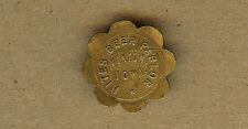 Vintage Hites Beer Parlor, VINTON,Iowa IA, 10 Cents in Trade Brass TOKEN