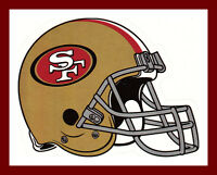 SAN FRANCISCO 49ERS FOOTBALL NFL HELMET DECAL STICKER TEAM LOGO~BOGO 25% OFF