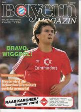 BL 83//84 FC Bayern München Blaue Bayer 05 Uerdingen