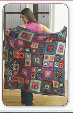 Crochet Pattern ~ BEAUTIFUL BRIGHT SQUARES BLANKET AFGHAN ~ Instructions