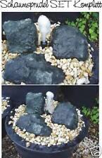 Springbrunnen SET Schaumsprudler Düse + Pumpe + Becken Gartenbrunnen Zierbrunnen