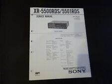 Original Service Manual Sony XR-5500RDS/5501RDS