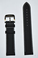 Original Tissot QUICKSTER 19mm Black Leather Watch Band Strap For T095417
