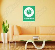 "Vegetarian Marijuana Weed Pot Funny Wall Sticker Room Interior Decor 18""X25"""