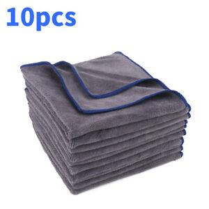 10x Large Microfibre Car Cleaning Cloths Detailing Towel Soft Cloth Wash Towels
