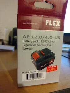 Flex polisher battery 12 volt 4.0 AH