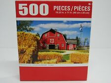 "PUZZLEBUG 18.25"" X 11"" Puzzle 500 Piece TRADITIONAL AMERICAN FARM"