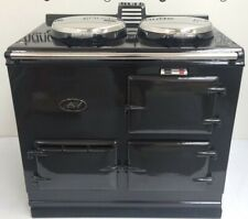 Aga Cooker 2 Oven 13 amp Electric. Reconditioned & Finished in Black Enamel.