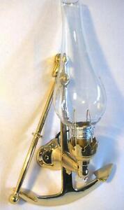 Schiffslampe - Schiffsleuchte - Wandlampe- massiv Messing und Glas- maritim