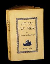 [SURREALISME] PIEYRE de MANDIARGUES (André) - Le Lis de mer. EO?