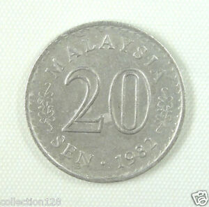 Malaysia 20 Sen Coin 1982