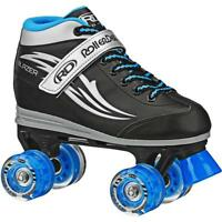 Roller Derby Boys' Blazer Quad Light-up Wheel Roller Skates Black/Blue