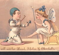 Fairy Slipper Magic Wand Laird Shoe Wm Martin Pittsburgh Advertising Trade Card