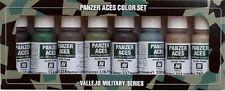 Vallejo PANZER ACES 70.128 Set Nº 5 Crew UNIFORMI 8x17ml vernici acriliche