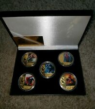 WORTH SPIDER-MAN 24KT GOLD PLATED 5 PIECE COIN SET WITH COA! MT! BRAND NEW!