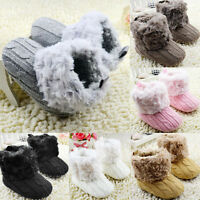 Newborn Toddler Baby Girls Infant Warm Snow Boots Soft Sole Booties Prewalker AB