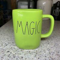 "NEW Rae Dunn by Magenta Lime Green ""MAGIC"" Halloween Fall Mug VHTF! Rare"