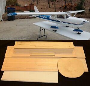 "120"" Wingspan CESSNA 150/152 R/c Plane partial kit/short kit & plans, PLS READ!"