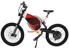 White 48V 1500W FC-1 Bomber Electric Bicycle Super Mountain EBike 37.5Ah Battery