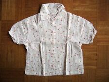 @ DIE MAUS @ maravilloso blusa de manga corta blanco Ramos flores talla 128 Edad