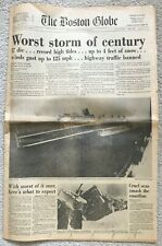 WORST STORM OF CENTURY February 8, 1978 The Boston Globe Newspaper First 24 Pgs