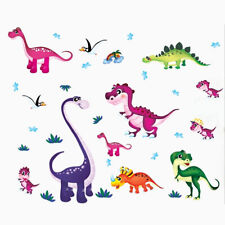 Dinosaur Wall Stickers Animal Jungle Zoo Owl Tree Nursery Baby Room Decals G6A