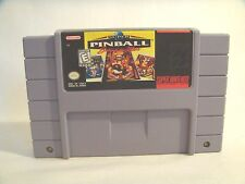 Super Pinball: Behind the Mask (SNES, 1994)  game only