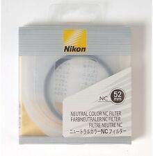 NEW Nikon NC Neutral Color filter protection UV 52mm