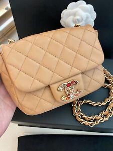 Chanel Mini Square Precious Jewel Shoulder Crossbody Bag RARE LN