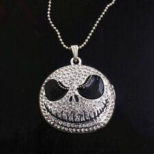 New rhinestone Jack Skellington nightmare before xmas necklace
