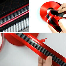 1m 5cm Carbon Fiber Red Car Fender Door Sill Scuff Plate Pedal Protective Strips